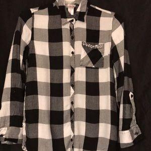 Girls justice plaid shirt